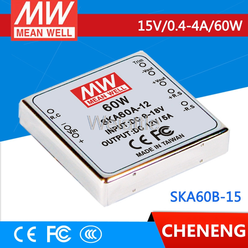 цена на MEAN WELL original SKA60B-15 15V 2.67A meanwell SKA60 15V 60W DC-DC Regulated Single Output Converter