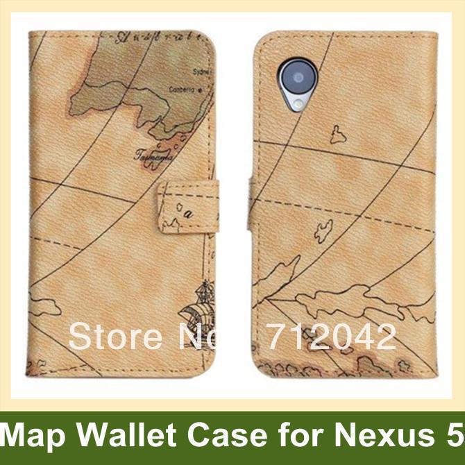 Прохладный Мир Географические карты флип чехол для LG Nexus 5 E980 PU кожаный бумажник чехол для Google Nexus 5 E980 бесплатная доставка