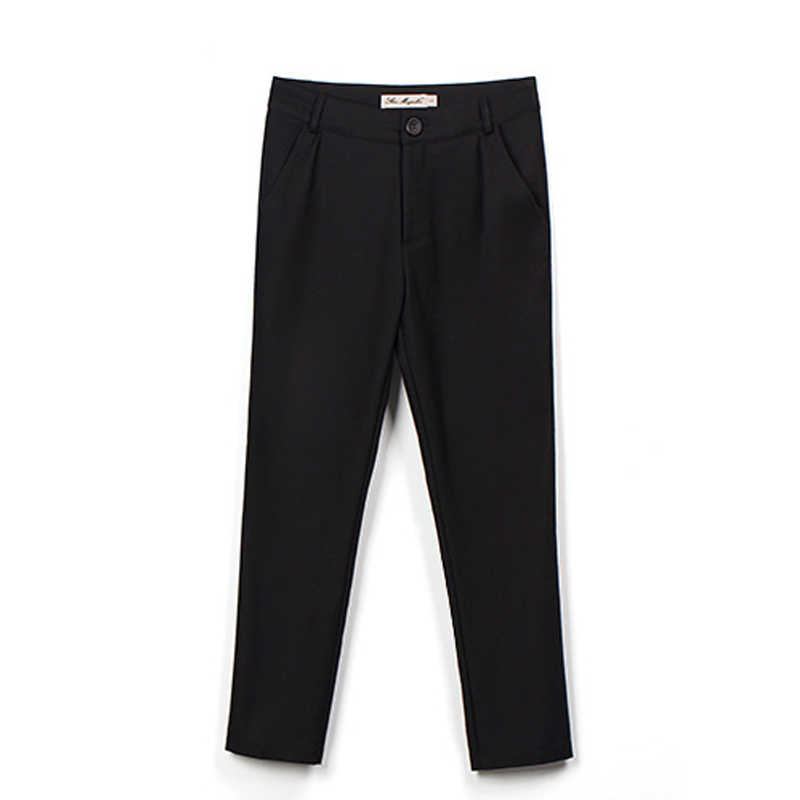 {Guoran} formele dames office werkkleding broek 2017 zomer vrouwen OL stijl zwart capri broek vrouwelijke potlood broek plus size 4XL