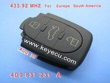 Reemplazo Transmisor de Entrada Sin Llave Fob 3 Botón dominante Alejado 433 MHZ 4D0 837 231 A 4D0837231A Para A3 A4 A6 Viejo modelos
