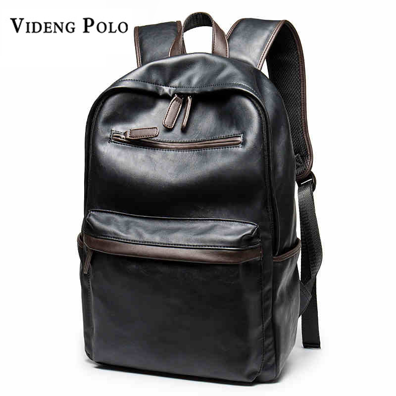 VIDENG POLO Men Brand Fashion Shoulder Bag Business Leisure Travel Computer Backpack College Ttudents bag For Men mochila 2017 fashion women waterproof oxford backpack famous designers brand shoulder bag leisure backpack for girl and college student