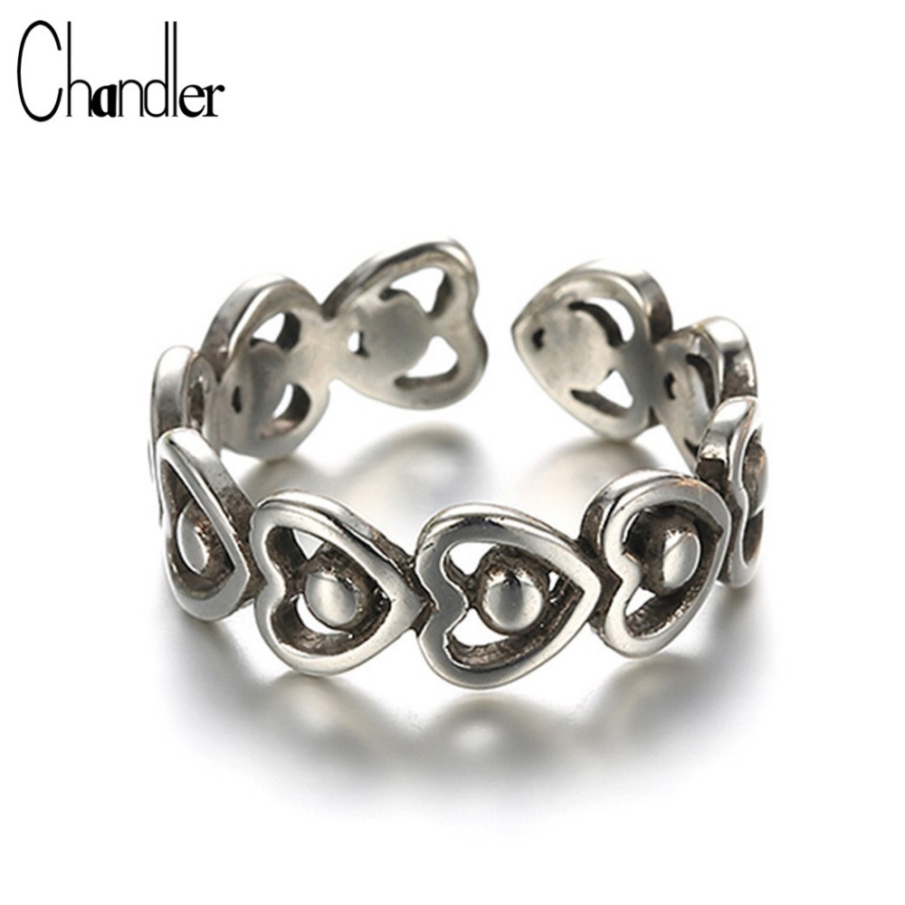 Chandler 925-sterling-silver Antique Love Rings Unisex Engagement Bague Trendy Luxury Re ...