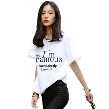 Printed Brand Letter T Shirts Women Tops 2016 New Fashion T Shirt Women 2016 Summer Funny T Shirts Homme Women Tops