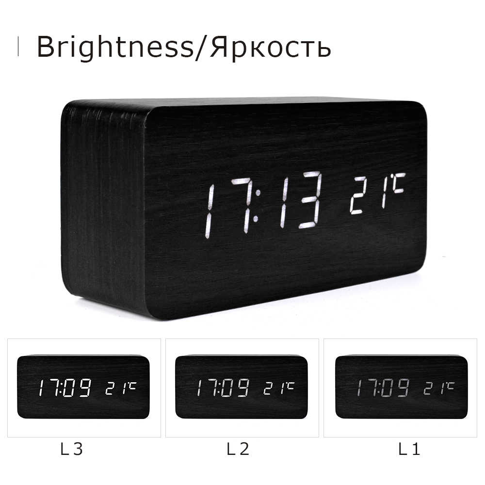 Suncree מודרני בית אריזת מתנה LED דיגיטלי שעון מעורר, Despertador טמפ + תאריך + זמן אלקטרוני דיגיטלי שולחן שעוני שולחן העבודה