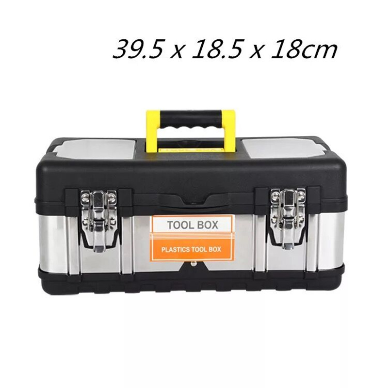 Stainless Steel ABS Plastic Portable Toolbox Car Tools Storage Box Hardware Containers Electrical Tool Box store