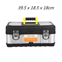 Stainless Steel + ABS Plastic Portable Toolbox Car Tools Storage Box Hardware Containers Electrical Tool Box store