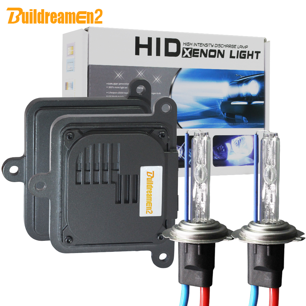 Buildreamen2 AC Xenon Kit Ballast Lamp 55W 10000LM H1 H3 H7 H8 H11 9005 9006 9007 H4 Hi/Lo 3000K-8000K Car Headlight Fog Light