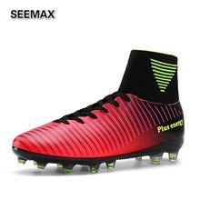 2017 Brand Soccer Shoes Men's High Top Soccer Cleats Boots AG Botas de Futbol Football Shoes High Ankle Zapatillas Cleats Boots