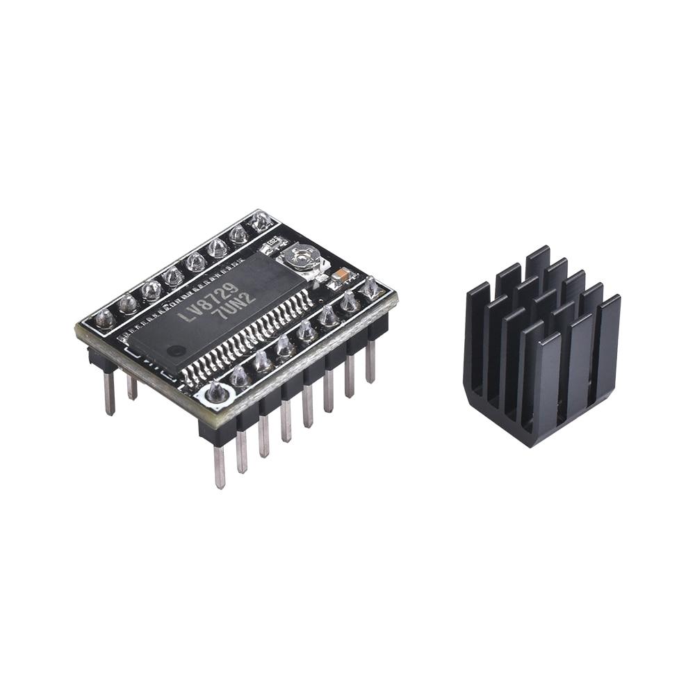 BIQU 3D Printer Parts LV8729 Stepper Motor Driver 4-layer Substrate Ultra Quiet Driver LV8729 Support 6V-36V With Heatsink