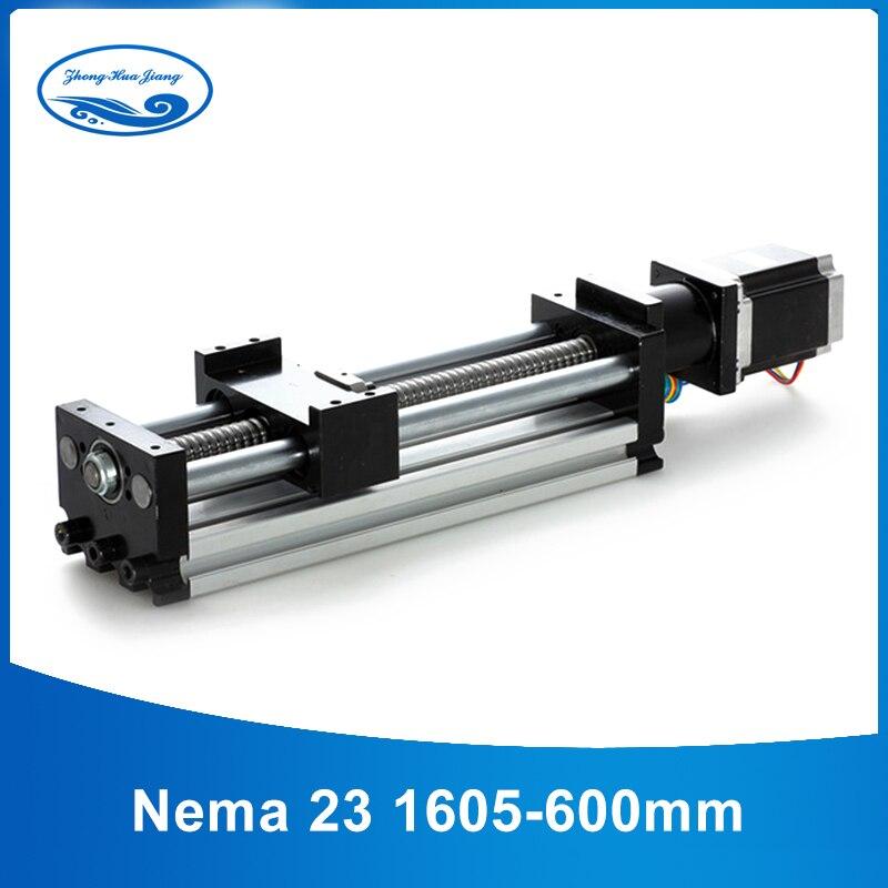1605 600mm linear guide rail 16mm linear rod cnc linear rail + nema 23 cnc guide rail