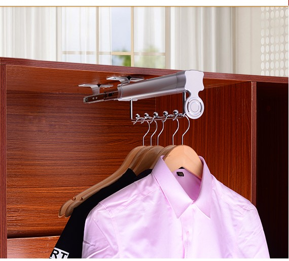 Clothes airing rod fitting top mounted cross rod hardware telescopic hanging clothes rod cabinet inner pull hanger hangerClothes airing rod fitting top mounted cross rod hardware telescopic hanging clothes rod cabinet inner pull hanger hanger