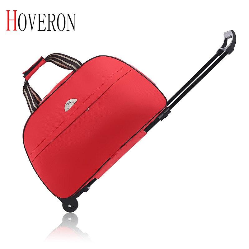 New Fashion Waterproof Luggage Bag Large Capacity Rod Women Travel Bag Oxford Cloth Rolling Luggage Suitcase With Wheels Handbag