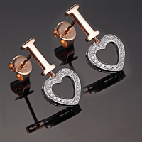 Love 18K Gold Diamond Stud Earrings For Women Fashion And Fine Jewelry For Wedding And Engagement