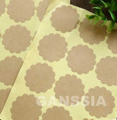 100 шт./лот Бланк Крафт стикер/цветочный форма/подарок печать наклейки для изделий ручной работы 39 мм (ss-a1005)