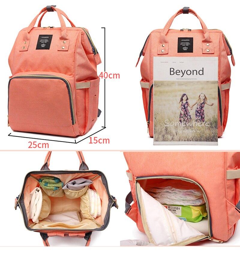 HTB1b.w6aEuF3KVjSZK9q6zVtXXau Diaper bag backpack mommy bag Maternity large nappy bag Bolsa Maternida Printed Bebe baby bag Travel Backpack Baby Care wetbag
