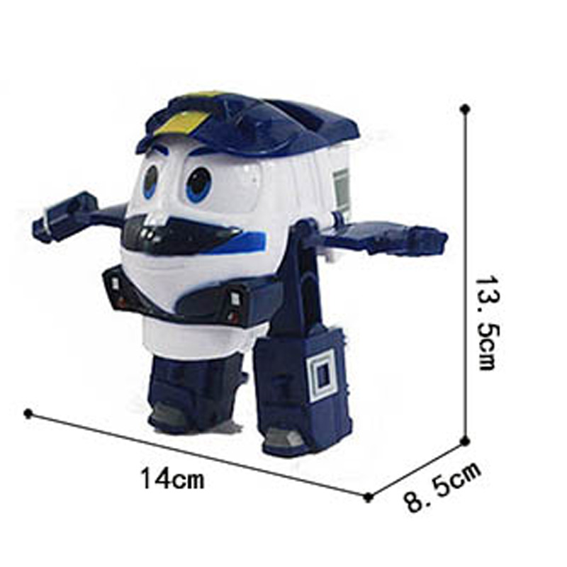 13cm Robot Trains Toy Transformation Kay Train Model Dynamic Train Family Action Figure Doll Kid Gift with Opp Bag