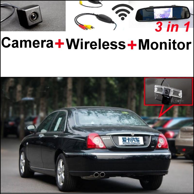 3 in1 Special Rear View Camera + Wireless Receiver + Mirror Monitor Backup Parking System For Morris Garages MG7 MG 7 wireless pager system 433 92mhz wireless restaurant table buzzer with monitor and watch receiver 3 display 42 call button