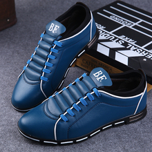 цены Fashion Leather Shoes for Men Black Red Spring Autumn Men Casual Shoes Men's Flat Shoes Sneakers Hard-Wearing Outdoor Men Shoes