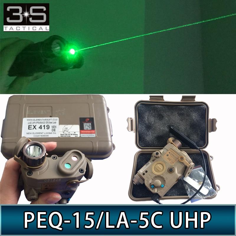 Element PEQ 15 LA-5C UHP Tactical Surefir Flashlight Green Laser IR LED Scout Light
