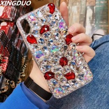 XINGDUO case for Samsung galaxy S10 S9 S8 Plus S7 S6 Edge Bling big Diamonds Crystal cover Note 8 9 5/J5 J7 2017