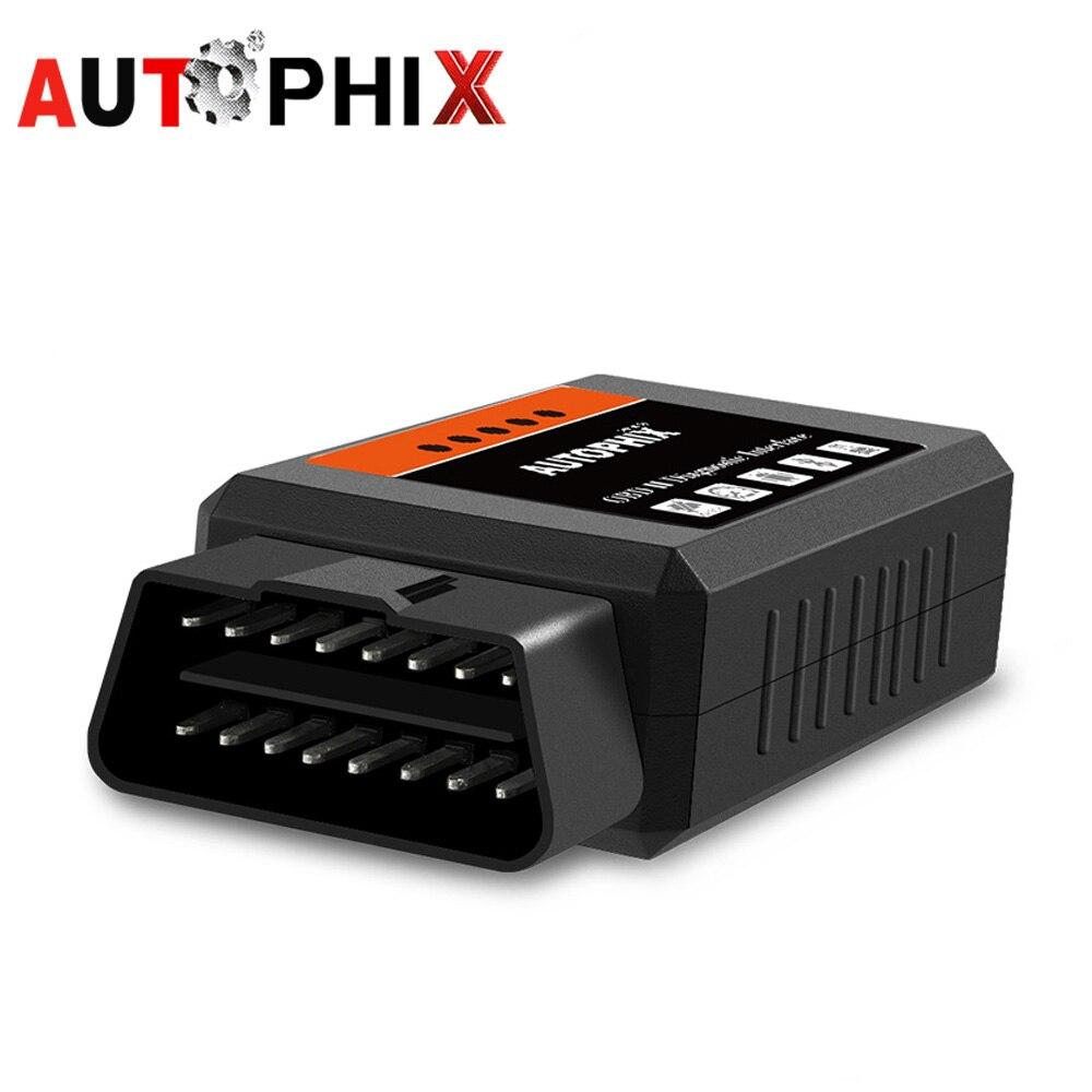 OBD2 ELM327 v1.5 Pic18f25k80 ELM327 Bluetooth OBD 2 v1.5 Bluetooth Lettore di Codice Auto Diagnostico Strumento Scanner Autophix ODB2 Om100
