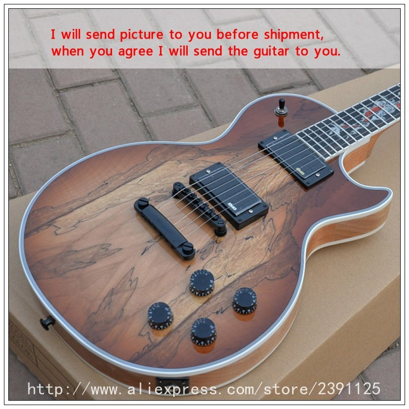 new brand guitar custom shop spalted maple top inlay high quality musical instruments chitarra. Black Bedroom Furniture Sets. Home Design Ideas