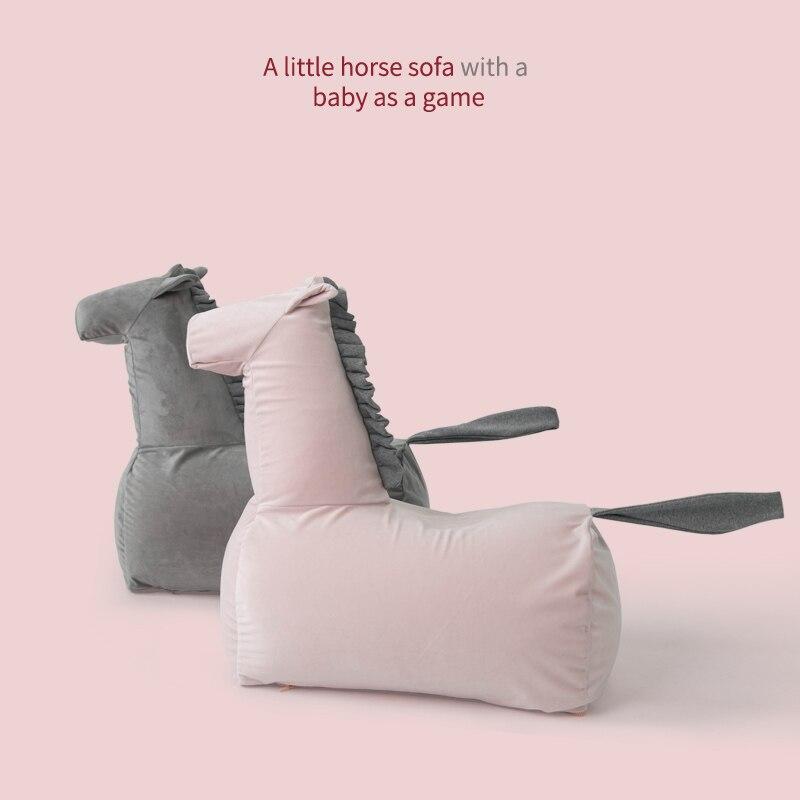 Детский диван милый пони мультфильм детский диван принцесса ленивый диван ленивый стул портативный стул диван для Детское Кресло-мешок сту...