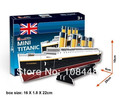 3D Model Building Kits Titanic 3D Paper Puzzles for Kids and Adults Gift Box Packing Free Shipping