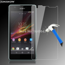 JONSNOW Tempered Glass for Sony Xperia ZR / M36H / C5502 /C5503 Explosion-proof LCD Screen Protector Film pelicula de vidro(China)