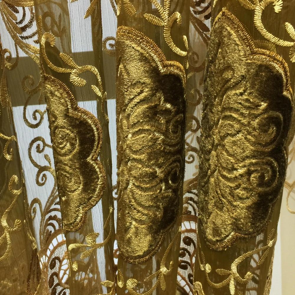 100% Polyester Avrupa Lüks Perdeleri nakış perde Salon / Mutfak - Ev Tekstili - Fotoğraf 3