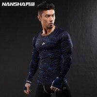 2017 Newest 3D Print Long Sleeve T Shirt Fitness Men Bodybuilding Crossfit NANSHA Brand Compression Shirts