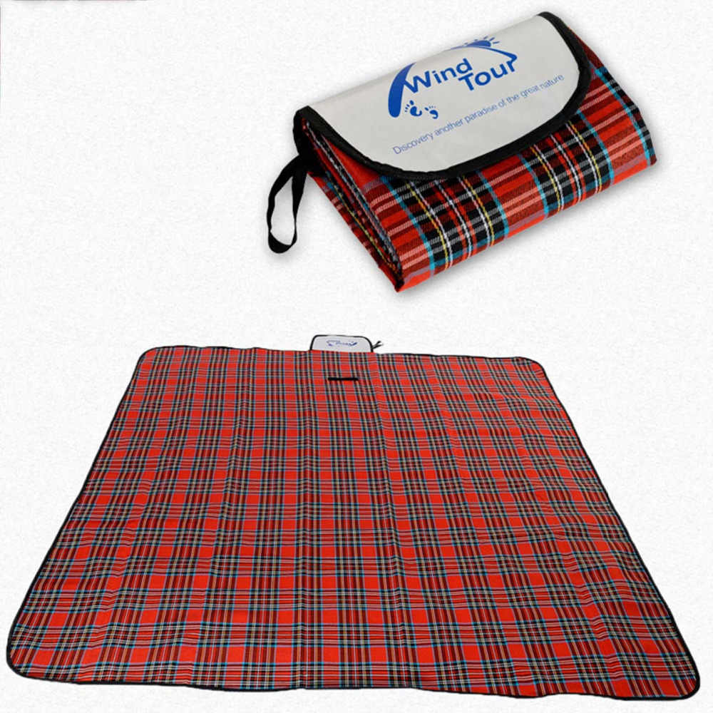 Baru Outdoor Pantai Piknik Folding Camping Mat Multiplayer Tahan Air Tidur Camping Pad Mat Moistureproof Plaid