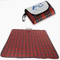 New Outdoor Beach Picnic Folding Camping Mat Multiplayer Waterproof Sleeping Camping Pad Mat Moistureproof Plaid Blanket