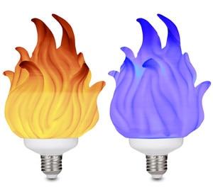 Image 5 - 3D Printing LED Flame Effect Light Bulb Fire Flickering Emulation Decor Lamp E27 LED Flame Effect Fire Light Bulbs For Bedroom