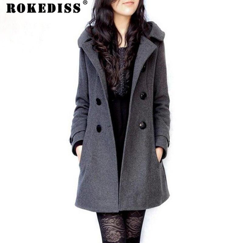Fashion Men/'s Woolen Parka chaud manteau d/'hiver Trench Parka Outwear Long Veste
