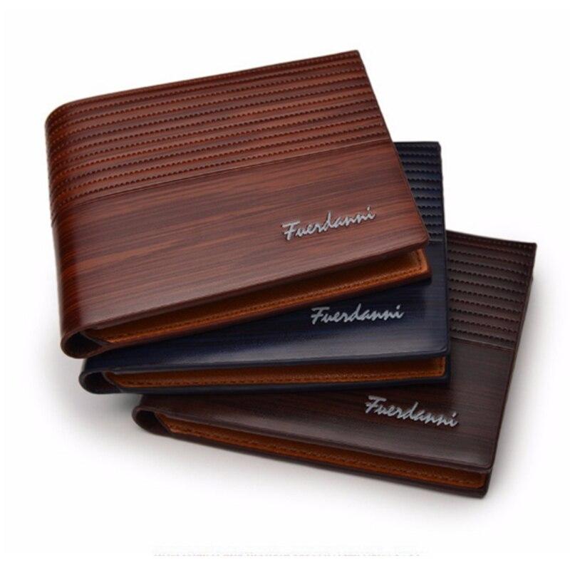 2019 New Vintage Men Wallet PU Leather Brand Luxury Wallet Short Holder Clip Credit Card Money Bag Portomonee Carteria