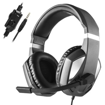 Stereo Gaming Headphone Headset helmet 3.5mm Wired with Microphone Volume Control Earphone for Xbox One PS4 Laptop PC