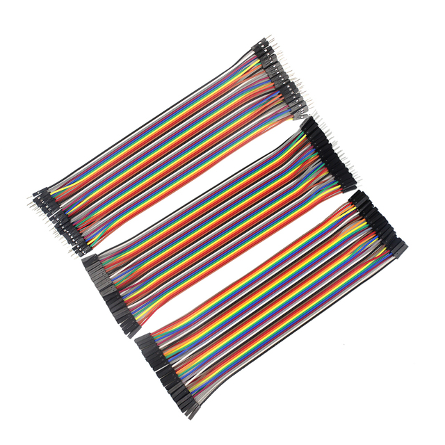 Free Shipping 120pcs 20cm Male to Male, Female to Male, and Female to Female Jumper Wire Connector Dupont Cable for Breadboard