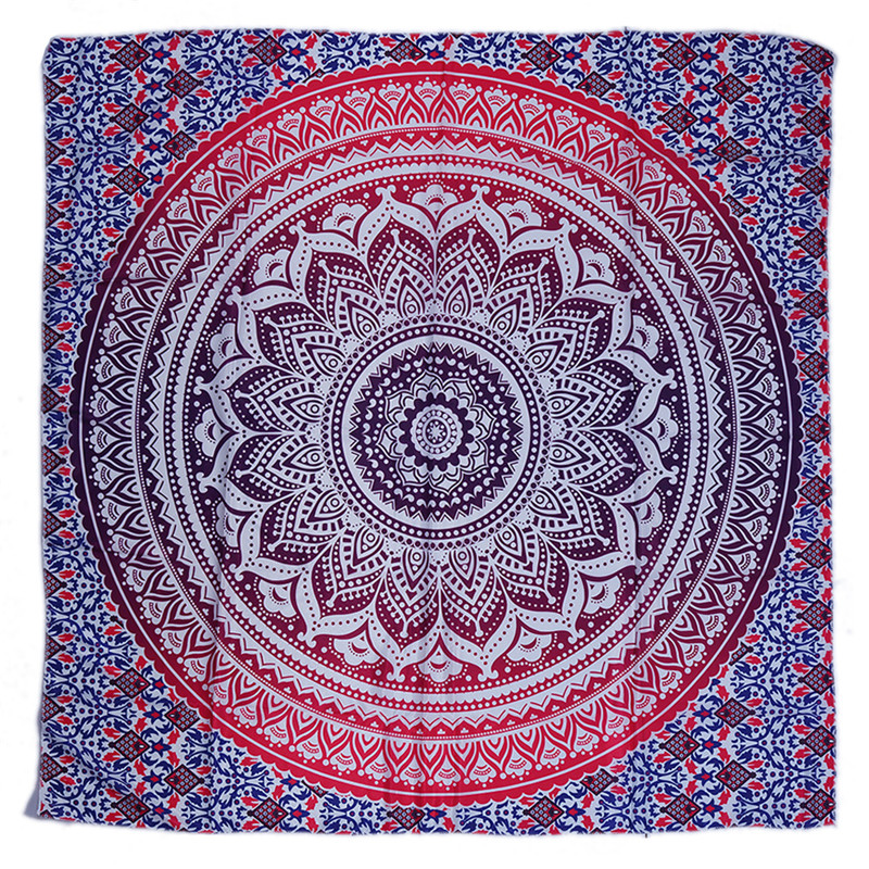 Square beach towel Bohemia Mandala Indian Tapestry Large Sandy Beach Shawl Throw Rug Blanket Camping Tent Travel Sleeping mat