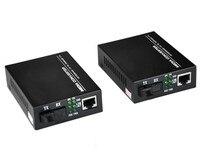 1 pair 100M Simplex mode optical fiber transceiver 1 SC interface + 1 RJ45 port 25KM Fast Ethernet Media Converter