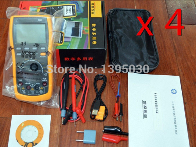 4PCS/Lot High Quality Digital Multimeter VC86D VC30274 with RS232 USB and English Manual