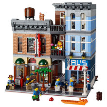 LEPIN 15011 2344pcs Creator series Detective's Office Model Building Blocks Toys Classic Compatible  City Street Minifigure Gift