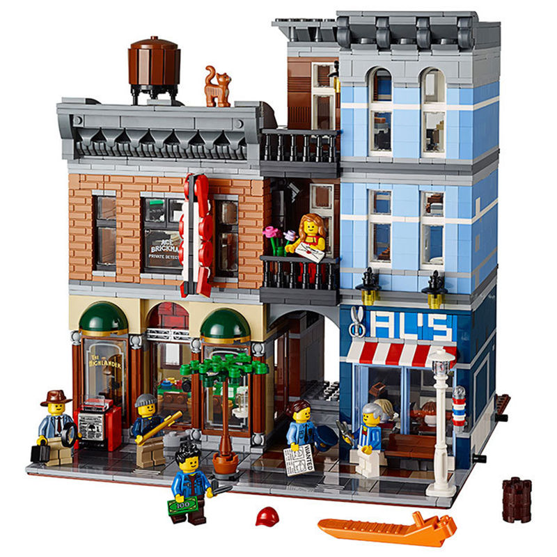 LEPIN 15011 Educational Toys Creator series Detective s Office Model Building Blocks Classic City Street 2344Pcs