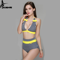 2016 Sexy Bikinis Women Swimsuit High Waisted Bathing Suits Striped Bikini Set High Waist Women Swimwear