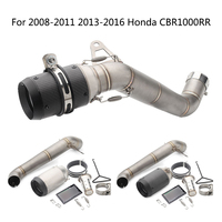 For Honda CBR1000RR Exhaust Pipe Motorcycle Mid Pipe Slip On 61 mm Muffler Removable DB Killer Escape 2008 2011 2013 2016