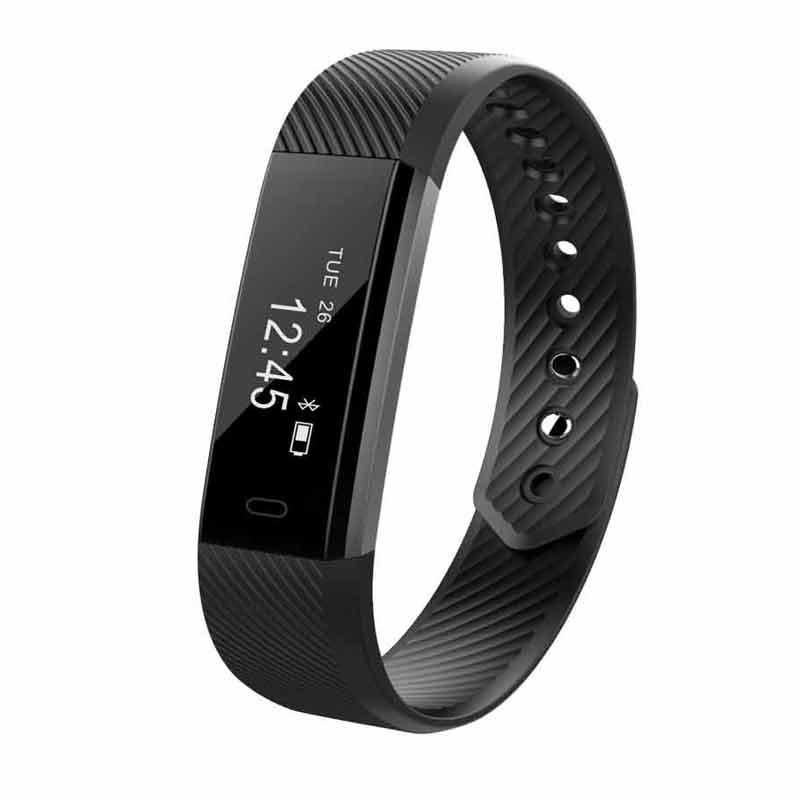 HESTIA ID115 Smart Bracelet Fitness Tracker Step Counter Band Alarm Clock Vibration Wristband For Iphone Android