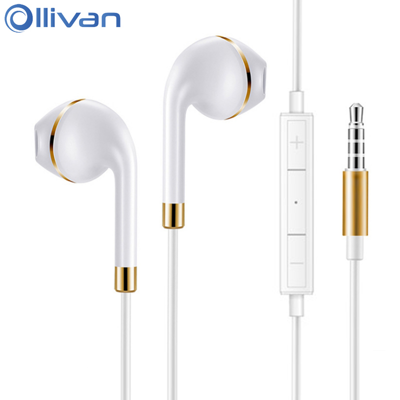 Ollivan T0 Mobile Phones Earphone With Mic Universal Stereo Earphones HIFI Headsets MP3 Auriculares For IOS Android MP4 Laptop
