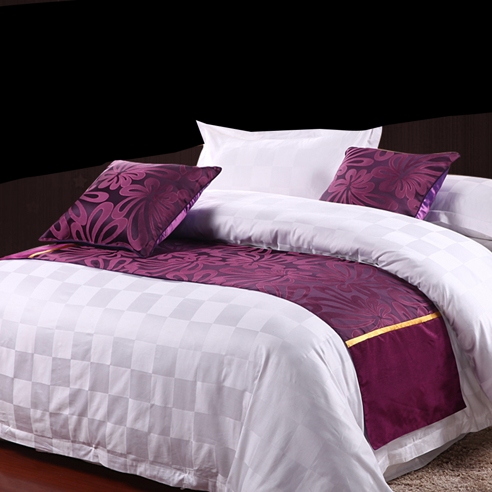 yazi purple butterfly double layer bed runner scarf bedroom hotel decor polyester bed tail towel 50x180cm 50x210cm 50x240cm in table runners from home - Violet Hotel Decor