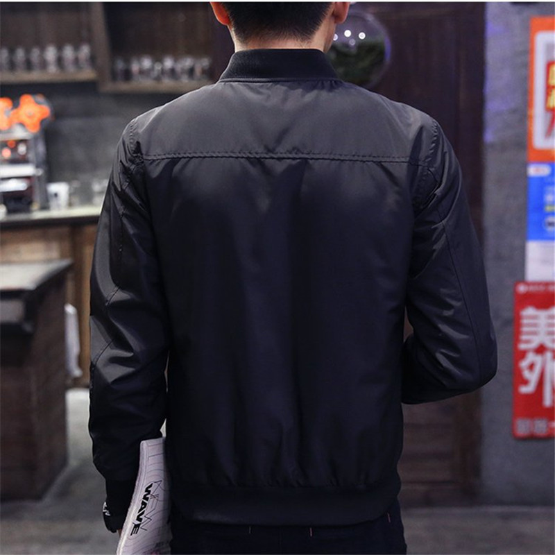 Spring Autumn Fashion Mens Jackets Thin Solid Fashion Coats Male Casual Slim Stand Collar Bomber Jacket Men Overcoat 4XL