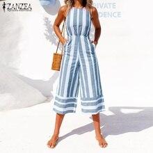 1343d566083 ZANZEA 2018 Oversized Summer Pants Women Jumpsuit Sleeveless Palazzo  Bodysuit Hollow